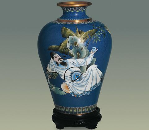 作品描绘了唐代诗人李白醉卧酒坛,酒流满地还在举杯邀月的诗情画